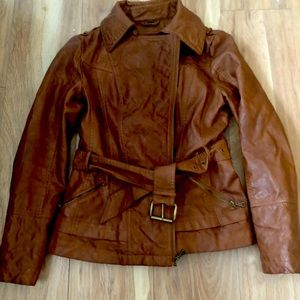 Guess belted jacket large